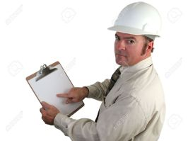 222130-a-construction-inspector-pointing-with-concern-to-his-report-on-this-clipboard-isolated-Stock-Photo